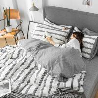 【】放心购 网红四件套全棉纯棉被套被罩春夏季床单人学生宿舍床上用品三件套