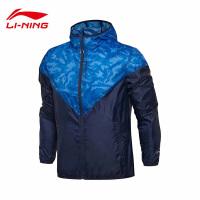 李宁风衣男士训练系列开衫长袖防风服外套反光迷彩运动服AFDM091