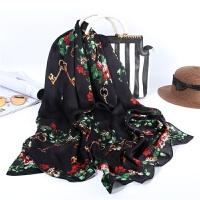 苏州丝绸围巾 女士丝巾 驼色樱花款 丝巾女韩国 围巾纱巾GH57