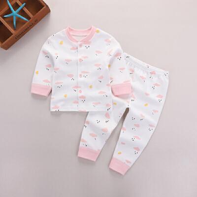 婴儿内衣套装春装纯棉宝宝保暖衣服儿童秋衣裤0-1-2岁薄款两件套 发货周期:一般在付款后2-90天左右发货,具体发货时间请以与客服协商的时间为准