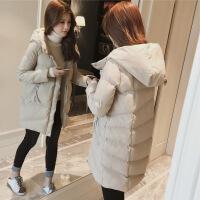女2018新款冬装韩版面包服外套加厚棉袄女流行外套羽绒棉衣服 米白色 S