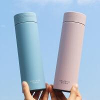 清新简约保温杯男女学生情侣款创意一对水杯韩版个性韩国可爱杯子