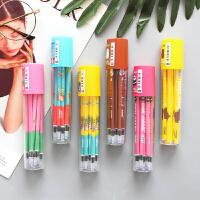 水笔全针管子弹头0.38中性替芯黑色红0.5mm 学生办公用笔芯0.35mm