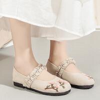 老北京布鞋女绣花鞋汉服鞋平底女布鞋防滑透气软底鞋老人鞋妈妈鞋