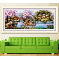 钻石画满钻客厅大幅花园小屋十字绣点钻贴砖风景钻石秀卧室背景画