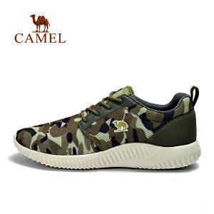 camel骆驼运动休闲鞋 男款透气轻便低帮系带舒适休闲鞋男