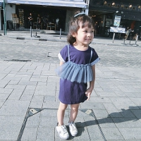 女童连衣裙夏季2018新款童装女中小童夏装网纱韩版儿童假两件裙子