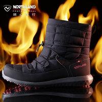 【顺心而行】诺诗兰新款户外女士徒步防滑耐磨保暖冬雪地靴FB072501