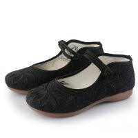 新款老北京布鞋女复古民族风绣花鞋软底舒适平底妈妈鞋汉服鞋