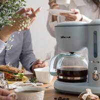 小熊美式全半自动咖啡机家用小型滴漏式迷你煮咖啡壶泡茶煮茶壶