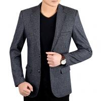 秋季帅气西服中年男士30-40-50爸爸休闲上衣青年韩版男便西装外套