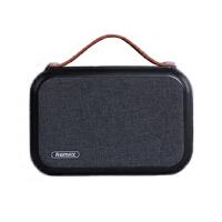 REMAX M17便携式重低音户外室内全景适用布艺蓝牙音箱 黑色