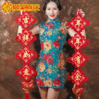鱼挂饰风水吉祥如意对联中国结挂件客厅大号福字小号镇宅家居装饰