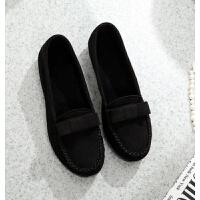老北京布鞋女鞋平底软底黑布鞋平跟酒店鞋工作鞋舞蹈鞋妈妈鞋布鞋 黑色 A-3
