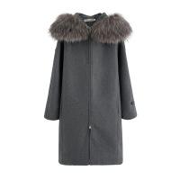 2018秋冬季新款大毛领外套女中长款韩版时尚显瘦连帽宽松毛呢大衣