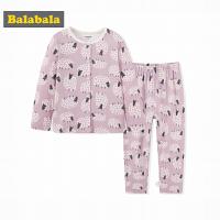 巴拉巴拉童装棉内衣套装儿童秋衣秋裤2017新款小童睡衣家居服女童