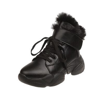雪地靴2019新款女鞋冬季加绒棉鞋秋冬款百搭马丁网红瘦瘦靴子短靴