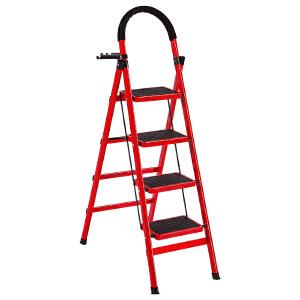 御目 家用梯 折叠加厚室内梯子阳台户外铝合金不锈钢人字梯五步四步三步楼梯创意家具