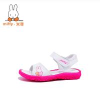Miffy米菲女童鞋凉鞋儿童公主鞋小女孩宝宝凉鞋2017新款韩版夏季