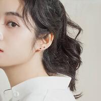 纯银耳钉女日韩简约迷你小耳骨钉养耳洞气质韩国个性学生