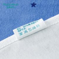 全棉时代 婴儿针织复合口水兜22cmx30cm 2条装