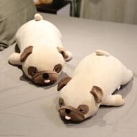 巴哥犬毛绒玩具八哥柴犬公仔狗狗玩偶床上睡觉抱枕男女孩生日礼物