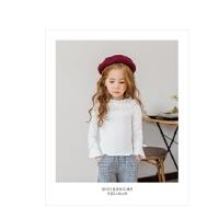 上衣花边领喇叭袖女宝宝长袖女童打底衫