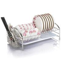 御目 置物架 不锈钢碗架沥水架单层晾放碟筷架盘子架厨房收纳加粗1层收纳架满额减限时抢礼品卡创意家具