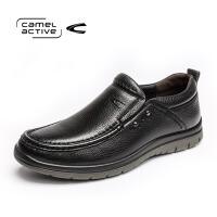 Camel Active/骆驼动感秋季新品系带男士真皮商务休闲鞋皮鞋男鞋