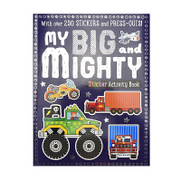 Sticker Activity My Big And Mighty 我的酷炫工程车 事物认知贴纸书 幼儿手工益智 纸