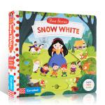 英文进口原版First Stories系列 Snow White 白雪公主 儿童启蒙童话故事书纸板机关操作书亲子互动阅