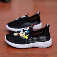 春季男童�W布�和��\�有�女童休�e鞋中小童鞋����跑步鞋�W鞋子