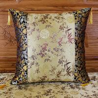【人气宝贝】新品中式抱枕红木沙发靠垫套中国风扶手枕喜庆靠背套长方形腰枕套【】