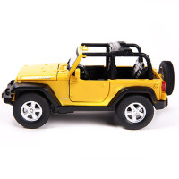 美致MZ 合金车模型仿真牧马人越野车模型 儿童回力玩具小汽车模型