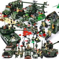 启蒙积木6军事系列儿童益智拼装玩具8-10岁12男孩子5生日礼物