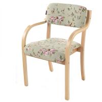 御目 餐椅现代简约北欧宜家日式曲木椅靠背扶手餐椅家用电脑椅办公椅书桌椅子创意家具