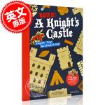 现货 建造!骑士城堡:建立城堡战斗场景 英文原版 Build!A Knight's Castle:Pop Out an