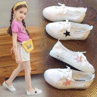 女童帆布鞋秋季儿童公主休闲小白鞋小女孩布鞋幼儿园