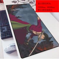 海贼王索罗mm动漫鼠标垫网吧超大0x0艾斯滑鼠垫键盘垫游戏加厚()