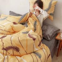 床上四件套冬季加厚保暖珊瑚绒法兰绒网红款华夫格被套双面床单