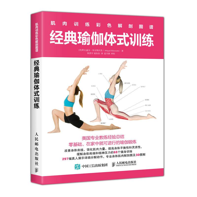 肌肉训练彩色解剖图谱 经典瑜伽体式训练瑜伽体式训练 肌肉解剖学 减肥减脂塑身塑形减压排毒瘦身 训练力量柔韧性书籍