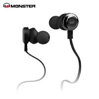 MONSTER/魔声 CLARITY HD灵晰入耳式面条魔声耳机 运动魔音耳机 黑色