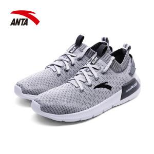 安踏男鞋跑步鞋2018春季新款透气舒适耐磨运动休闲慢跑鞋11725550