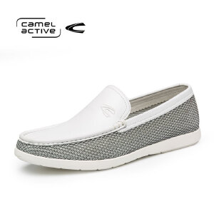 Camel Active/骆驼动感正品真皮男鞋圆头套脚舒适百搭透气牛皮鞋
