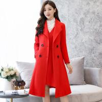 外搭两件套连衣裙女装2018冬季新款韩版女神成熟气质毛呢套装裙潮
