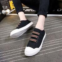 夏季中学生男鞋透气休闲帆布鞋韩版百搭板鞋男士小白鞋社会小伙鞋
