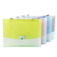 晨光银锐风琴包 A4多层文件夹 12层分类袋 票据收纳包 文件袋 学生试卷袋 AWT90961 单个 颜色随机