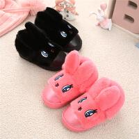 皮面儿童棉拖鞋包跟冬季加绒防水保暖男童女童小孩宝宝棉鞋防滑女
