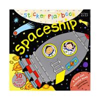 【首页抢券300-100】Sticker Playbook Spaceship 宇宙飞船 折叠贴纸活动书 3-6岁宝宝儿