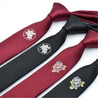 【3折到手价36】茉蒂菲莉 领带 韩版走秀定位绣花结婚新郎英伦窄式5CM男士领带